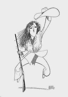 Bernadette Peters by Al Hirschfeld