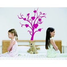 Style and Apply Love Tree Wall Decal Art Home Decor ( 12in x 16in)