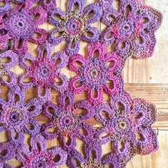 Marsh Violet crochet blanket by Amanda Perkins