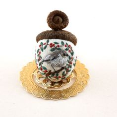Janie-Comito-2017-Valentine-for-the-Winter-Birds-OOAK-Acorn-Emery