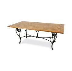Mesa de jantar c/ pe de ferro french baker - 2,00x1,00x0,78 cm
