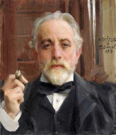 vasilyt:  Anders Zorn (Swedish, 1860-1920), Pontus Fürstenberg, 1898.