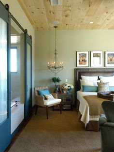 Love the ceiling!   like the white bedding with pops of color.    Bedroom Oasis in HGTV Dream Home Bedrooms Recap from HGTV