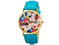 Woman Watch Flowers Pattern. Shop online on: ilovetimepieces.com