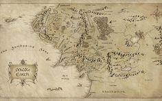 Lord of The Rings Map – HD Desktop Wallpaper