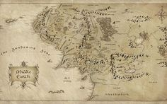 Lord of The Rings Map – HD Desktop Wallpaper