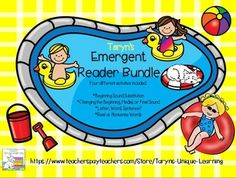 Summertime Fun!  This emergent reader bundle includes four different activities that emerging readers need to practice.  1.  Path Game (2 versions)-  Using a die and cards to move on the board, students land and read the word. The car tells your kids which letter to substitute, either letter 1,2, or 3.