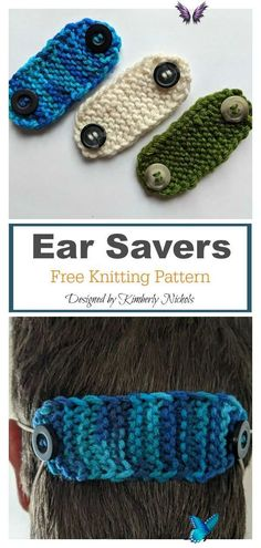 Face Mask Ear Savers Free Knitting Pattern <br> This Face Mask Ear Savers Free Knitting Pattern is a super quick Cotton stash buster project to protect ears from the elastic on surgical masks.