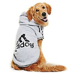 Eastlion adidog Large Dog Warm Hoodies Coat Clothes Sweater Pet Puppy T Shirt Gray 7XL - http://www.thepuppy.org/eastlion-adidog-large-dog-warm-hoodies-coat-clothes-sweater-pet-puppy-t-shirt-gray-7xl/