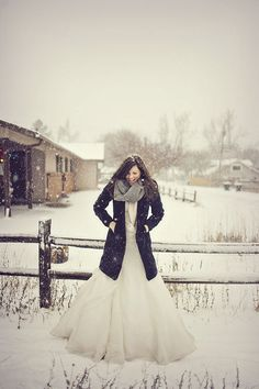 i never had wedding, but i believe it is happiness like that. Just like that. Standing in snow in  a white dress, friend of yours taking a picture, you are just smiling, and just standing in snow. Just like that.