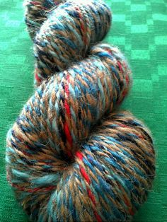 Allons-y Yarn. Fingering weight. Mystery merino wool and alpaca. The first in my Time Lord series. Started with the Tenth Doctor but I'll eventually spin a colorway for each of them.