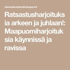 Ratsastusharjoituksia arkeen ja juhlaan!: Maapuomiharjoituksia käynnissä ja ravissa