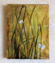 Encaustic photography  Grassses by EncausticsbyGretchen on Etsy