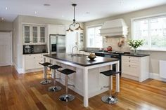 A warm timber top was specified for the island to echo the concept of a central table around which everyone gathers. The renovated kitchen features a double Hideaway Bin. Click the image for the full article. Small Bungalow, Bungalow Kitchen, Kitchen 2016, Kitchen Pantry, Central Table, Contemporary Kitchen Cabinets, Bungalow Renovation, Kitchen Decor Themes, Family Kitchen
