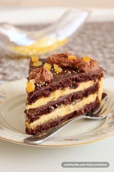 Torte Recepti, Kolaci I Torte, Orange Recipes, Sweet Recipes, Apple Rose Pastry, Orange Mousse, Torte Cake, Special Recipes, Homemade Cakes