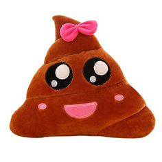 8 Types Mini Emoji Cushion Poop Shape smiley happy face poo emoticon emotion pillow toys doll colorful/bowknot syyle drop ship