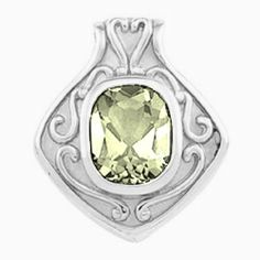 Platinum Antique Cushion Cut Lemon Quartz Pendant Gems-is-Me. $2110.34. FREE PRIORITY SHIPPING. This item will be gift wrapped in a beautiful gift bag. In addition, a 'gift message' can be added.. Save 40%!
