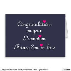 Congratulation on your promotion Future Son-in-Law Card