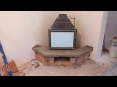 Камін своїми руками від А до Я - YouTube Corner Stone Fireplace, Cottage Fireplace, Home Fireplace, Septic Tank Design, Firewood Shed, Bedroom False Ceiling Design, Stove, Home And Garden, Rustic