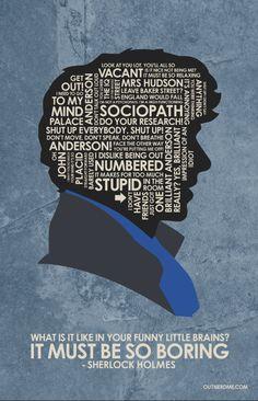 Sherlock Quote Poster by OutNerdMe on Etsy Sherlock Poster, Sherlock Fandom, Benedict Cumberbatch Sherlock, Sherlock Quotes, Sherlock John, Sherlock Fan Art, Sherlock Wallpaper, Mrs Hudson, Broadchurch
