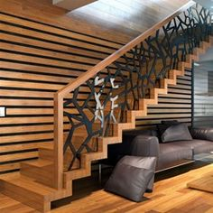 Staircase Railing Design, Interior Stair Railing, Home Stairs Design, Modern Staircase, Home Room Design, Railings, Bungalow House Design, Modern House Design, New Ceiling Design