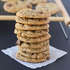 Flourless Oatmeal Almond Butter Chocolate Chip Cookies {Gluten-Free} | Meaningful Eats