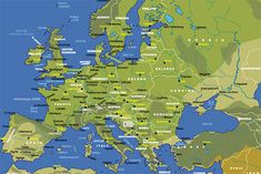 nice Europe Maps - Europe Maps : writing has been updated. new images added. printable political map of europe with countries and Capitals. Madrid, Photo Voyage, Germany Poland, Trondheim, Map Vector, Spain And Portugal, City Maps, Train Travel, Best Cities