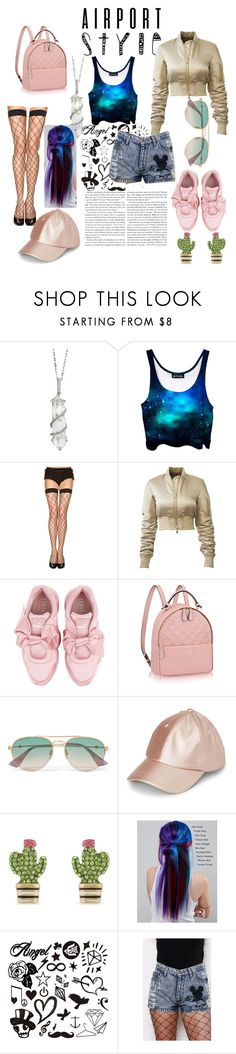 """""""Travel!"""" by misty-9 ❤ liked on Polyvore featuring Sharon Khazzam, ToBeInStyle, Puma, Gucci, Kate Spade and Manic Panic NYC"""