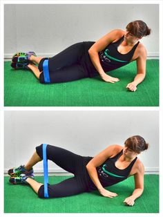 Crazy hard glutes workouts using a resistance band More