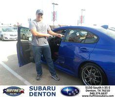 https://flic.kr/p/CW9eZG | Happy Anniversary to Marvin on your #Subaru #WRX STI from Bill Klozik at Huffines Subaru Denton! | deliverymaxx.com/DealerReviews.aspx?DealerCode=XDJB