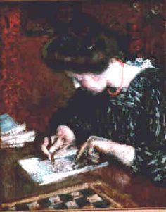 A Writing Woman, 1908 by Georges Lemmen Georges Lemmen (Belgian, 1865-1916)