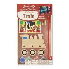 Decorate-Your-Own Wooden Train #8846 by Melissa & Doug, from Eliza Henry in Archbold, Ohio!