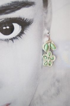 EARRINGS  Handmade Olive Green Lace Earrings  by ArtofAccessory, $25.00