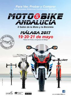 2ª Edición Moto & Bike Andalucía 2017, Salón de la Moto y de la Bicicleta, en Málaga