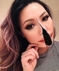 Halloween - Make-up Schminke und Co. Old Makeup, Scary Makeup, Beauty Makeup, Makeup Ideas, Face Makeup, Makeup Tricks, Maquillage Wonder Woman, Make Up 3d, Mehron Makeup