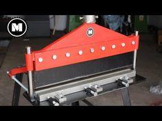 Hydraulic Press Brake - YouTube Metal Working Tools, Metal Tools, Homemade Tools, Diy Tools, Sheet Metal Brake, Hydraulic Press Brake, Folding Machine, Metal Sculpture Artists, Atv Trailers