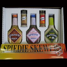Spiedie Survival Kit -3 Marinades 2 Spices
