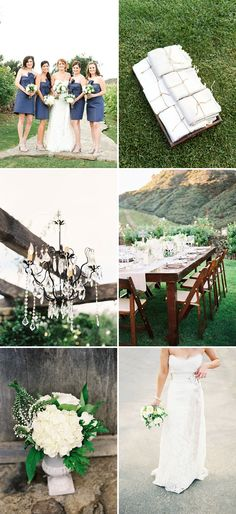Indigo and White Saddlerock Ranch Wedding by Beth Helmstetter--is the color you want maybe more like indigo?
