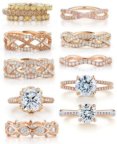 kwiat rose gold bridal rings