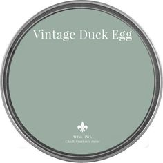 Vintage Duck Egg Wise Owl Chalk Synthesis Paint Available in Blue Green Paints, Green Paint Colors, Interior Paint Colors, Paint Colors For Home, Wall Colors, House Colors, Vintage Paint Colors, Duck Egg Blue Chalk Paint, Green Gray Paint