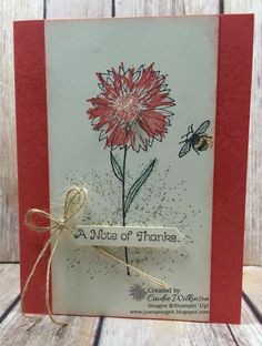 One cannot have too many thank you cards. The Touches of Texture and Thankful Thoughts Stamps are perfect for a thank you. With all the ...