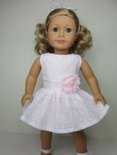 American Girl doll clothes  Super cute  white by JazzyDollDuds, $24.00