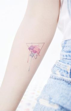 Triangle tattoo. Small tattoos are perfect for girls and women alike. Delicate and feminine, I promise these 28 blissfully small tattoos will not disappoint. Enjoy!