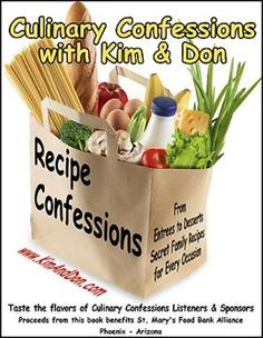 Our very own Culinary Confessions cookbook featuring family recipes from our listeners, sponsor a great resource.