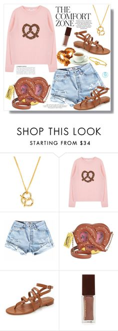 """Pretzel Break"" by queenvirgo ❤ liked on Polyvore featuring GALA, Marc by Marc Jacobs, Betsey Johnson, Sergio Rossi and Kevyn Aucoin"