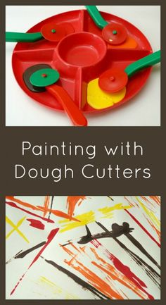 Painting with Dough Cutters~Creative Art for Kids