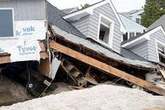Hurricane Sandy Brick NJ | Hurricane Sandy damage in barrier island section of Brick Township ...