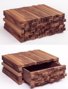 Swiss designer Boris Dennler is one of the finest artists with a knack of turning ordinary scrap into a wonderful piece of furniture that can be a part of the most luxurious homes. Dark Furniture, Diy Furniture Plans, Steel Furniture, Furniture Design, Woodworking Box, Woodworking Projects, Craftsman Furniture, Walnut Cabinets, Raw Wood
