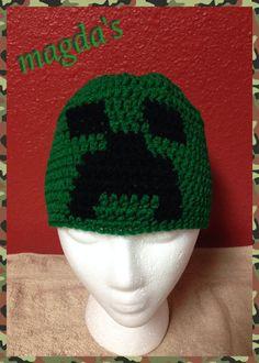 2a39378cef7 Items similar to Crochet beanie  Minecraft  creeper on Etsy