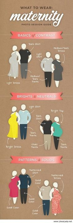 What to Wear to a Maternity Photo Session maternity infographic outfit ideas, family photo shoot More